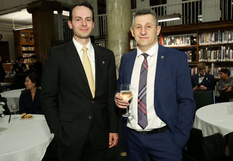 Vice President John Teifert (left) and HSNY Instructor Vadim Finkel (right)