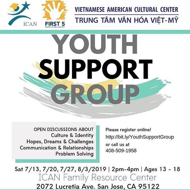 ICAN understands the cultural generation gap as well as balancing the two identities of Vietnamese and American is tough, and we hope to give youth from ages 13-18 a chance to open up about it. Join us for an open discussion and meet others who share in your struggles ❤️💛