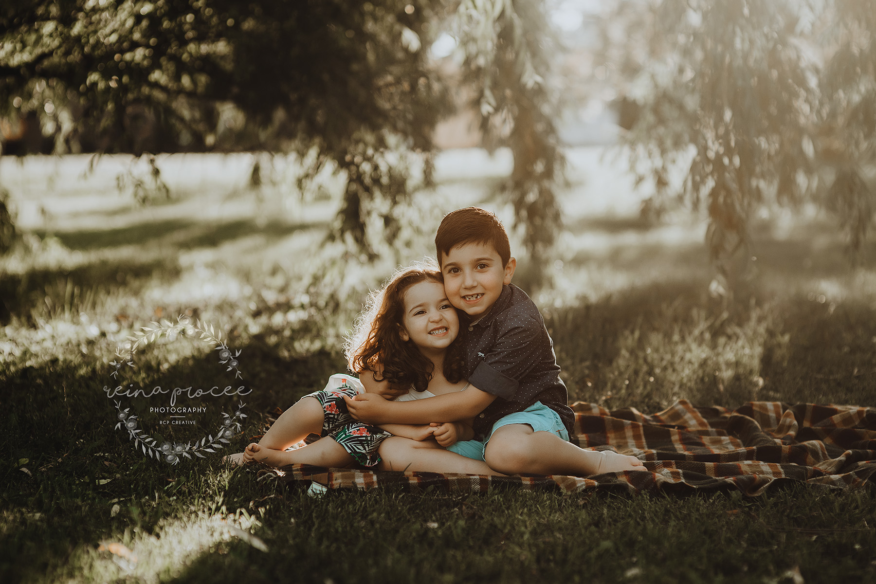 Brother and sister outdoor family session