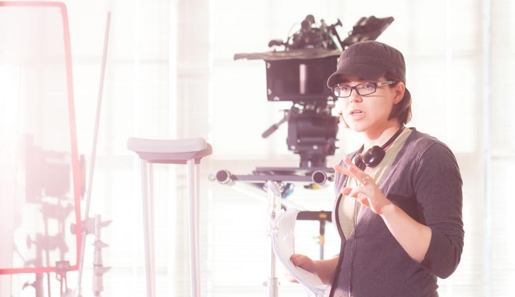 Courtney Ware directing on the set of her film,  Sunny in the Dark. Photographed by Miah Oren.