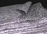 Grey packing blankets