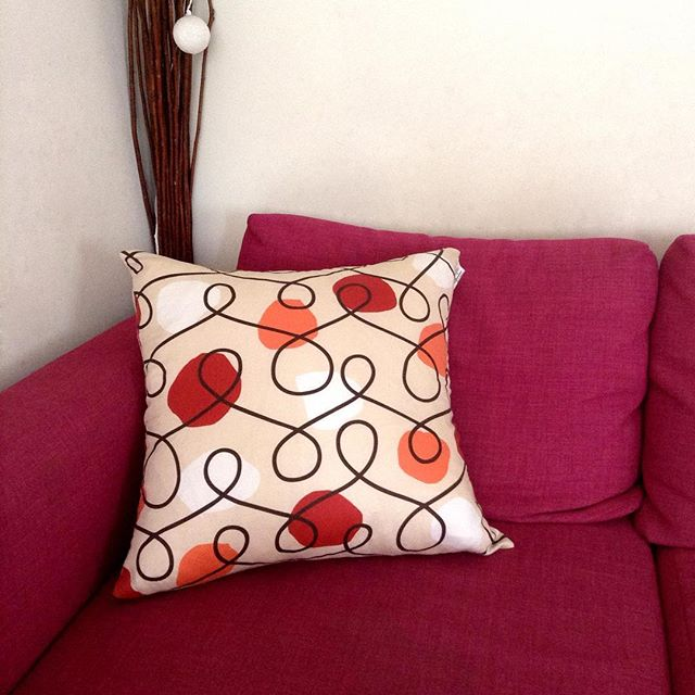I love when our customers post our pillows in their space #chakrapillow #interiordecor #textiledesign #residentialdesign #designingspaces #decor #accentpillow #interiors #interiorfurnishings #colorsplash Chakra pillow SOLDOUT but restocking