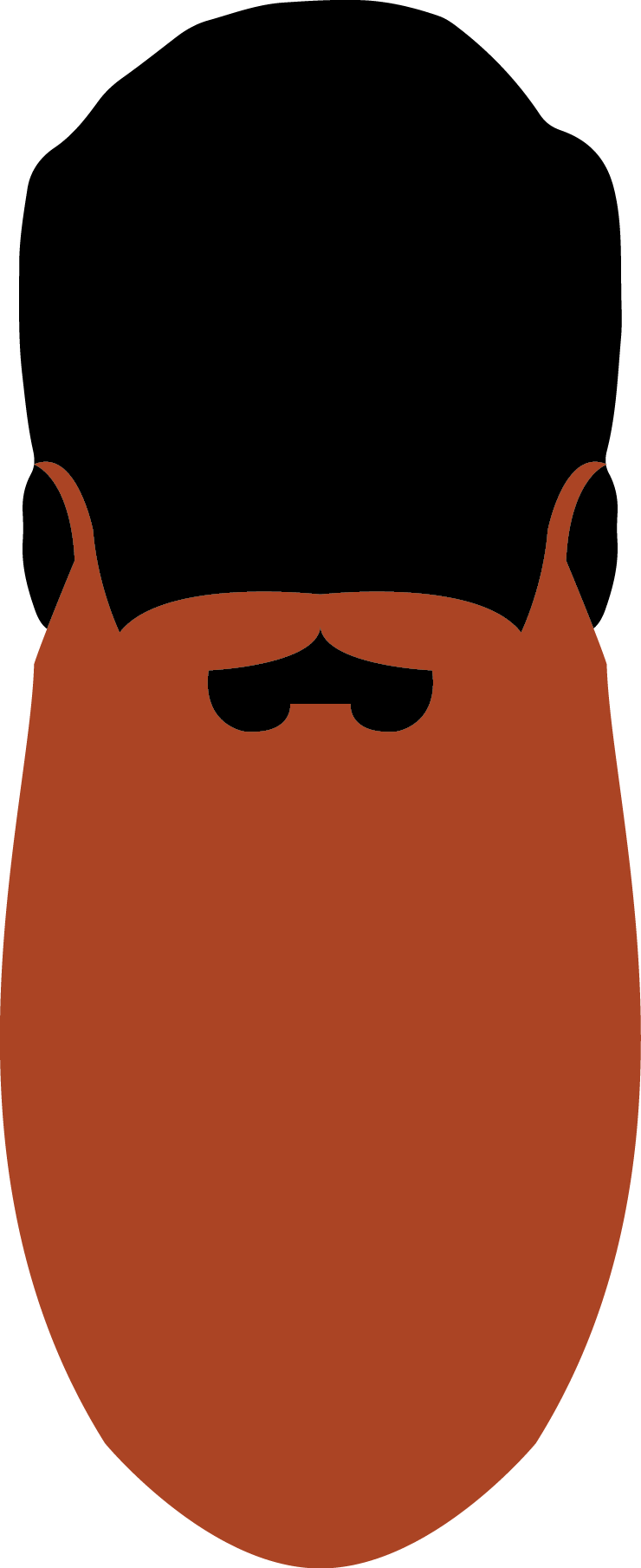 19. Natural Full Beard 30.1 cm - 45cm