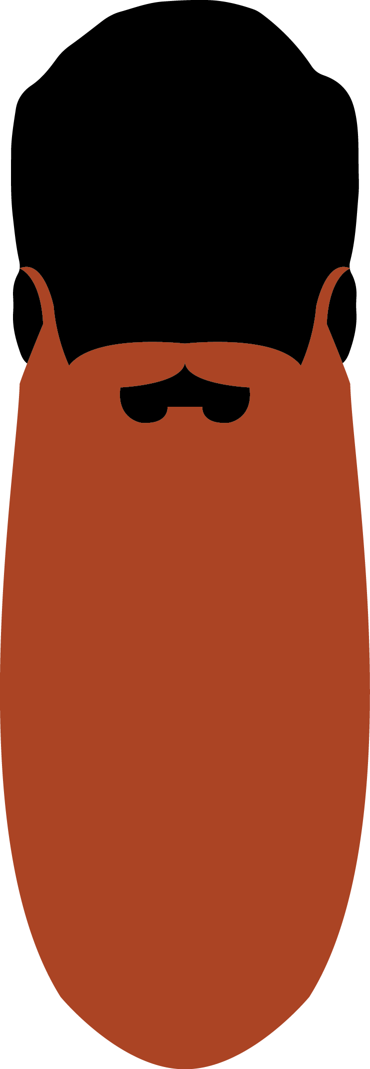 20. Natural Full Beard 45.1cm - 60cm+