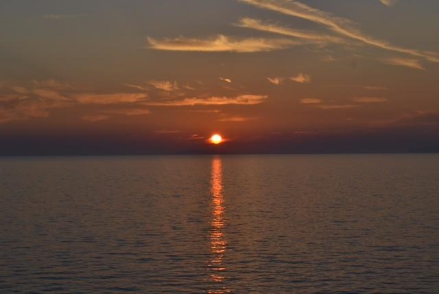 cinque terre sunset italy
