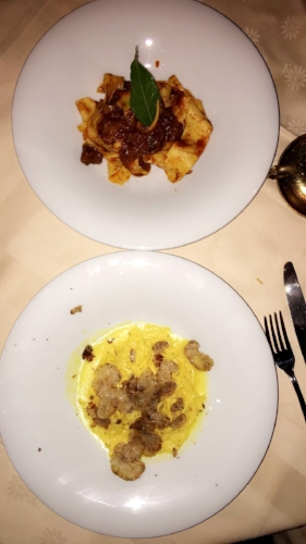la giostra wild boar and truffle pasta florence italy