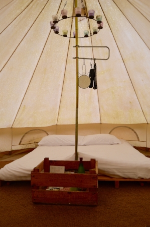 ballyvolane house glamping tent interior