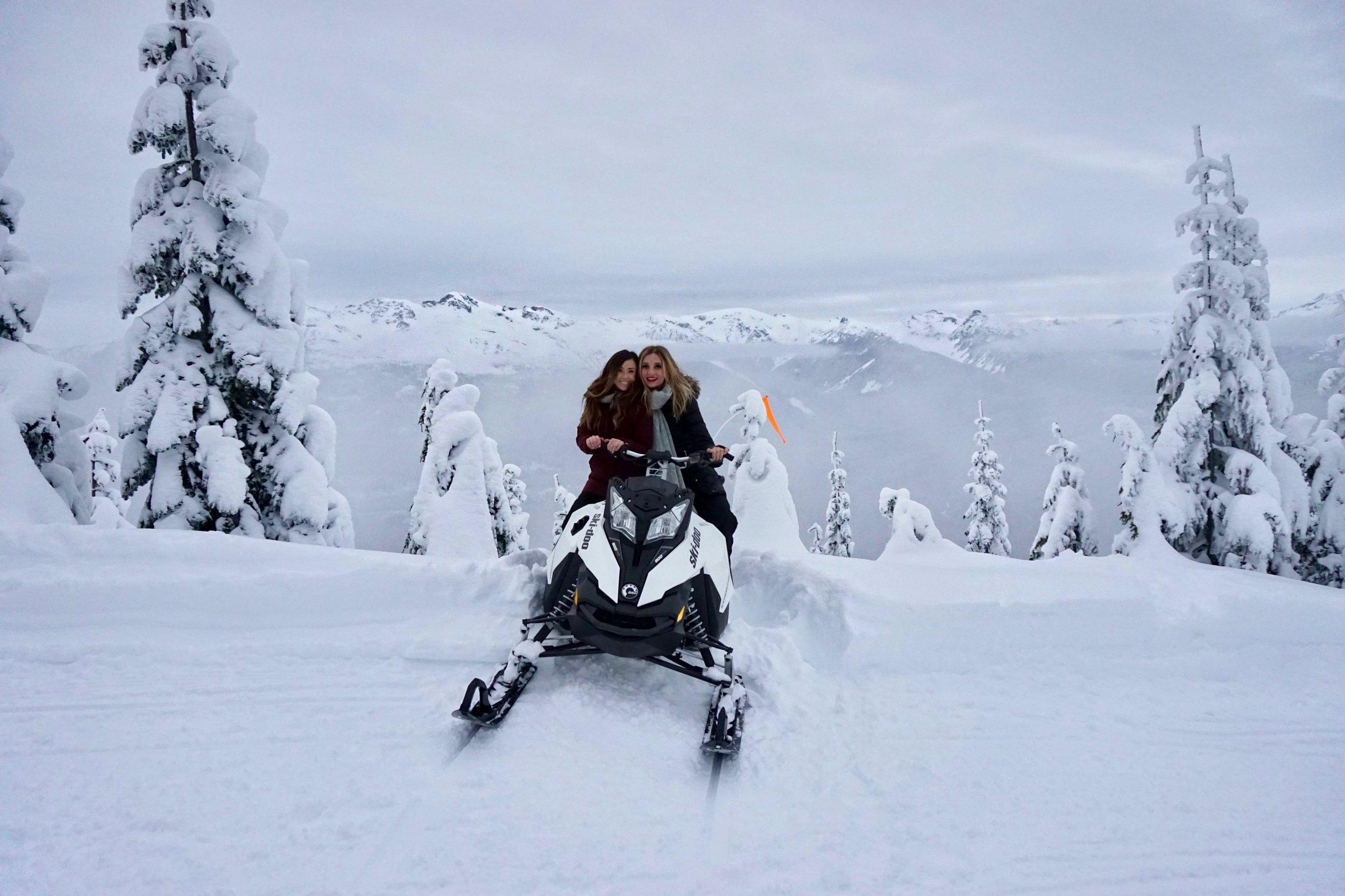 snow mobiling whistler canada