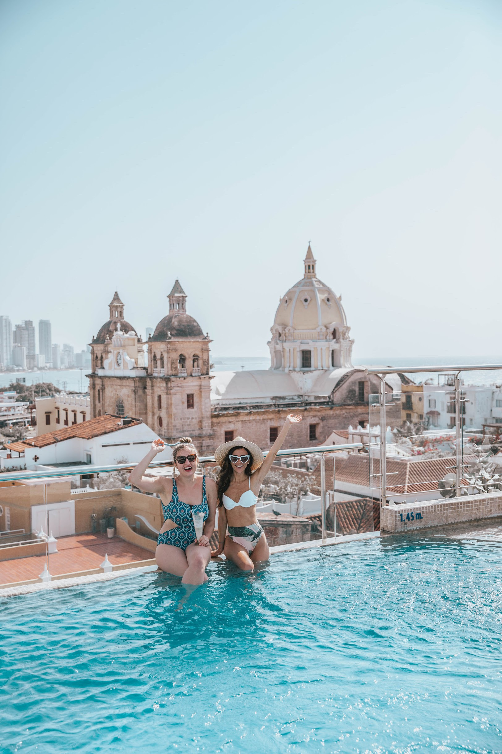 movich hotel rooftop pool cartagena