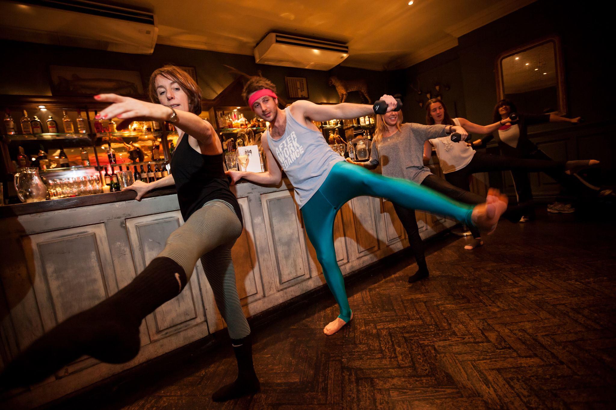 Alexi tries out pub ballet