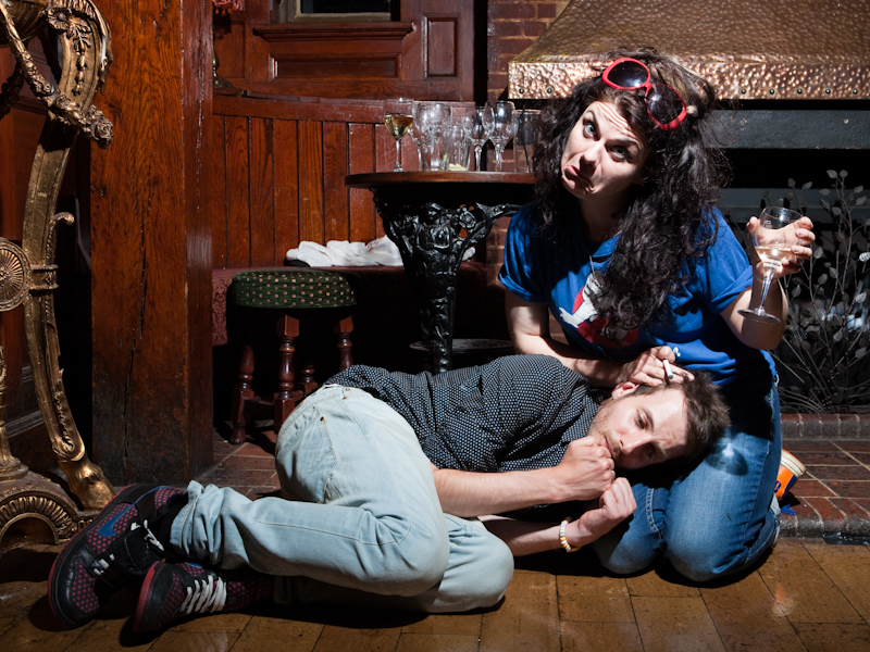 Alexi tries to out-drink Caitlin Moran