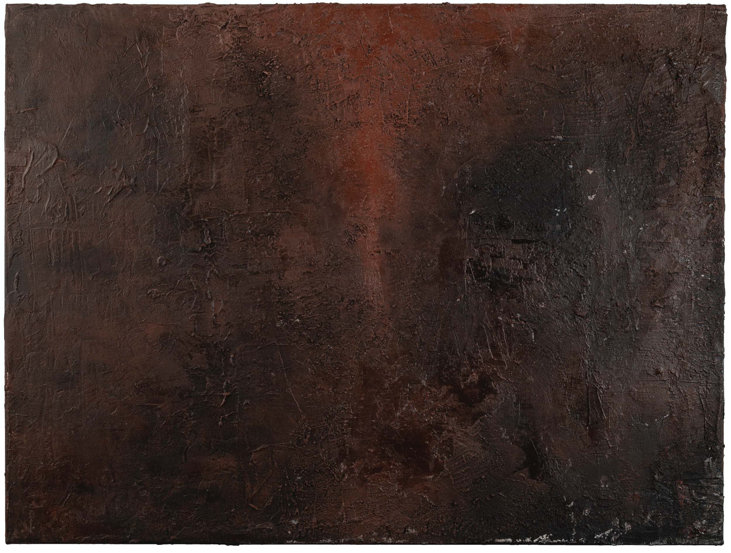 517153 , 2019 Acrylic, pumice, charcoal, india ink, stucco on canvas 30 × 40 in (76.2 × 101.6 cm)