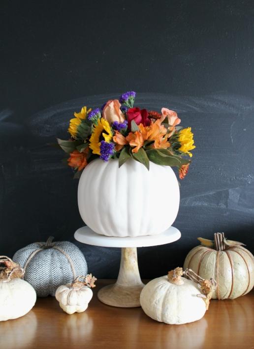pumpkin flower vase