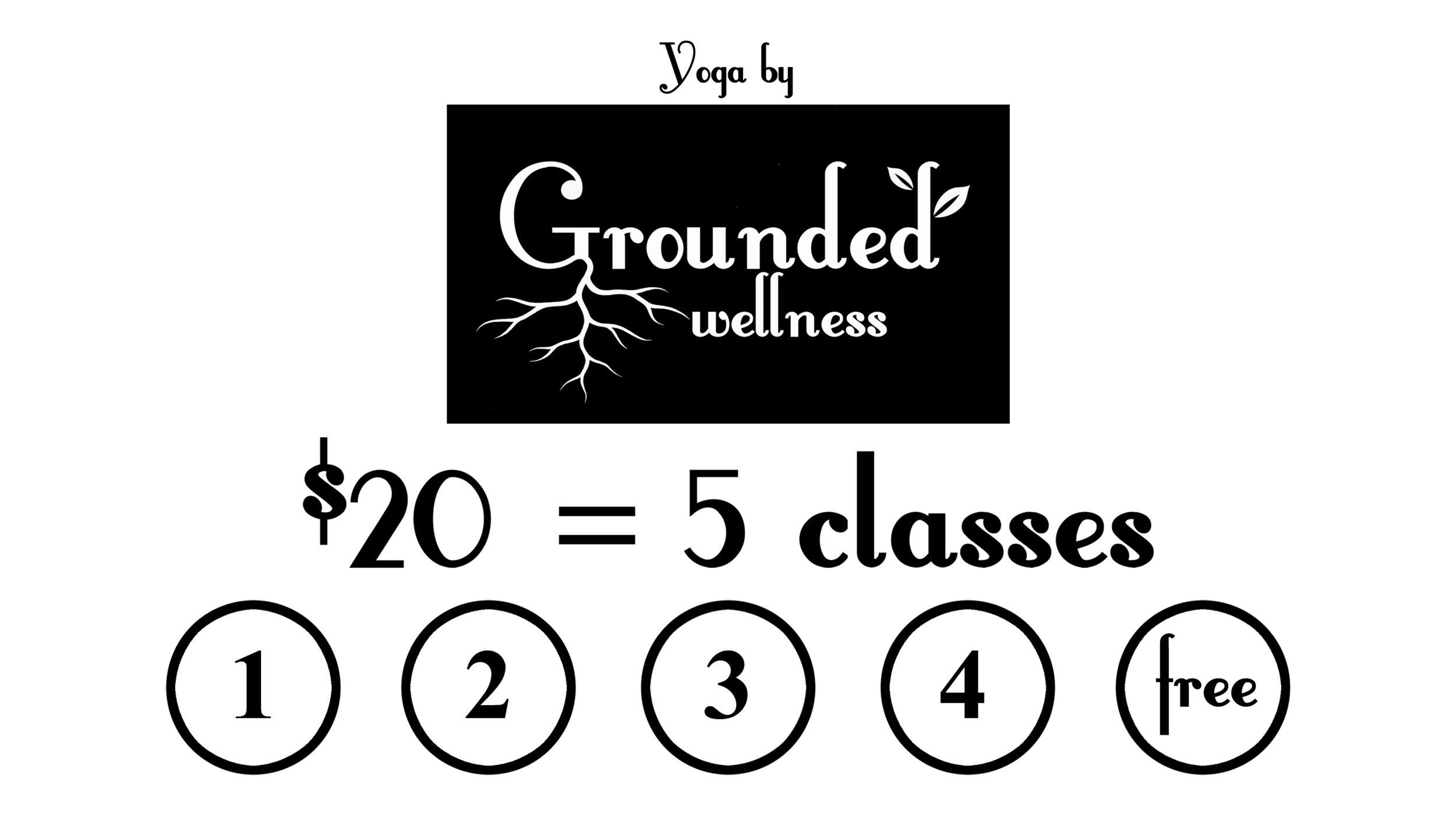 Punch cards get you $4 classes! - Ask for yours!
