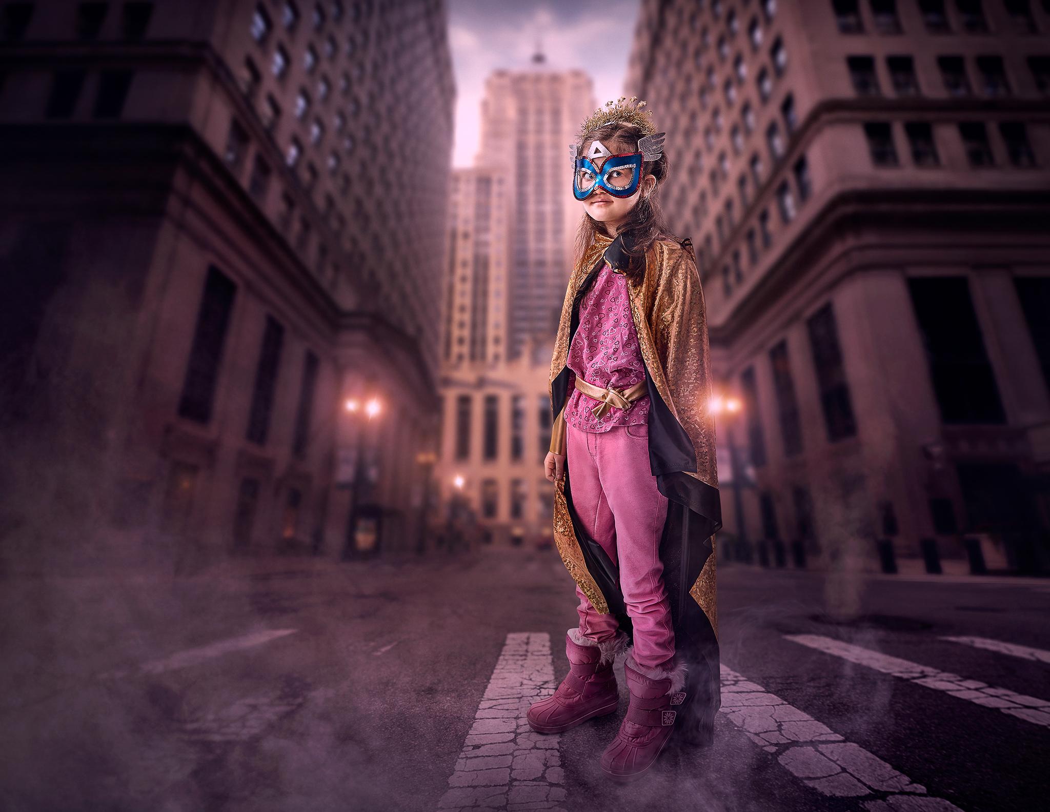 """Rob Gregory, """"Childhood Cancer Superhero - Leyla"""""""
