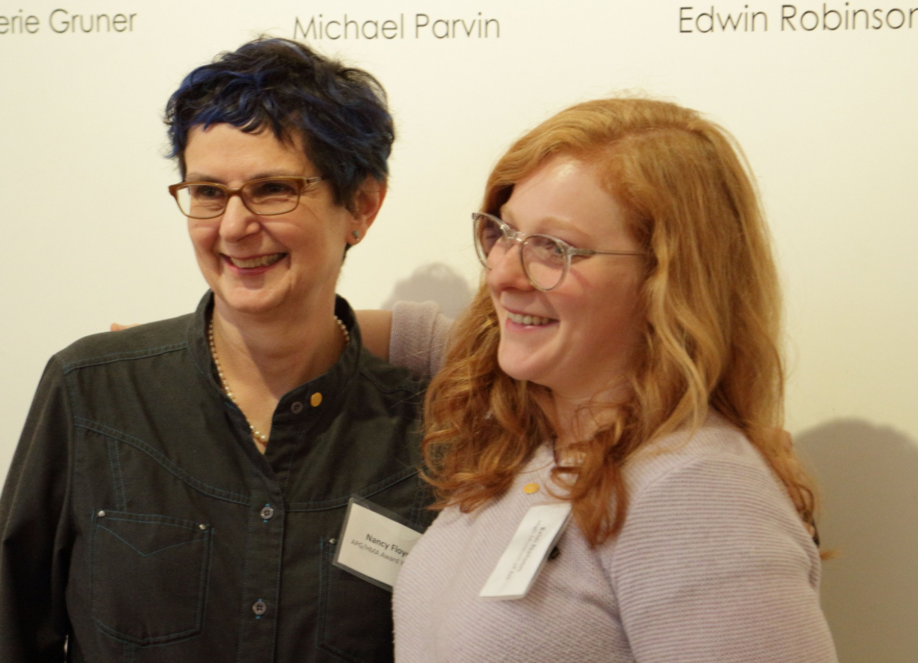 APG / High Museum Award 2016 Winner Nancy Floyd, with High Museum's Erin Nelson