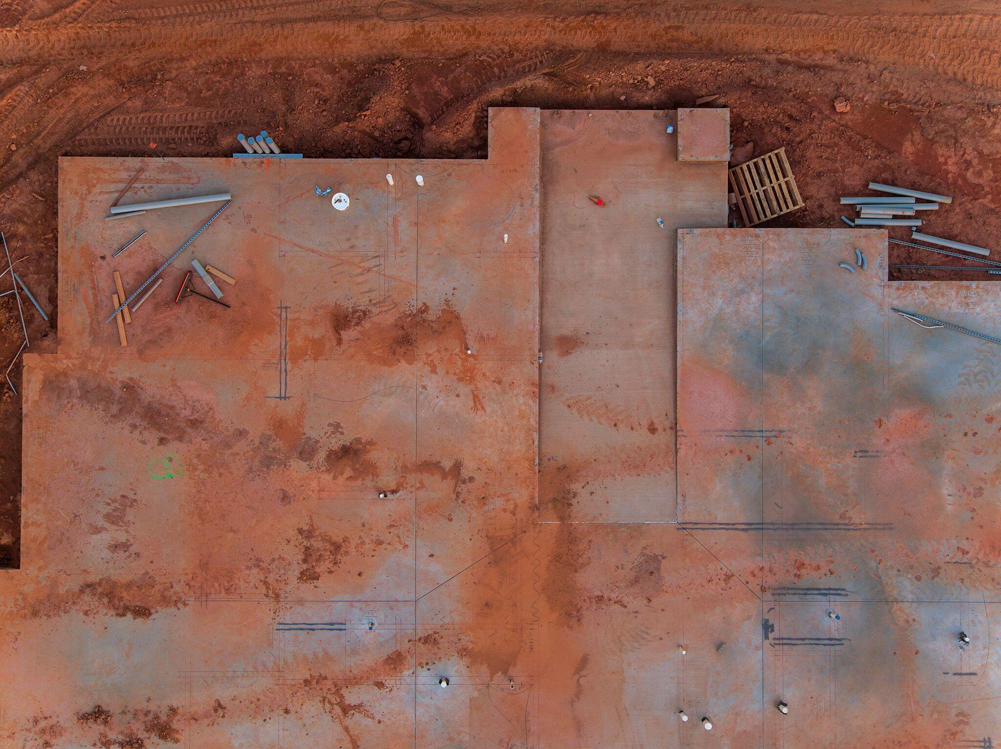 """Peter Essic, """"Foundation, Construction Site, Lithonia, Georgia, 2017"""""""
