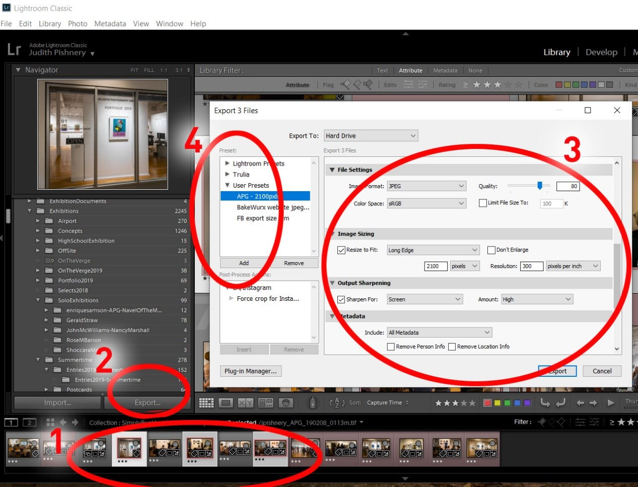 How to resize a photo with Lightroom