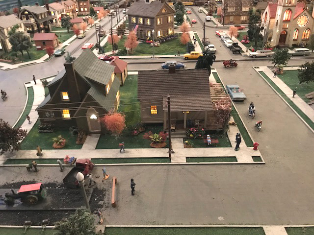 One of the neat things about Roadside America is that there are all sorts of interesting things happening (such as street repaving)!