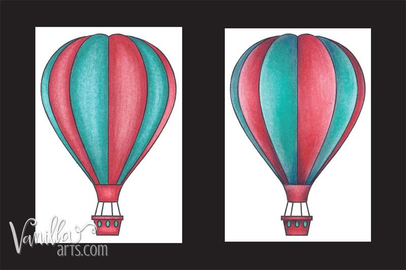 Vanilla Arts Blending Technique Comparison | VanillaArts.com | #copic #coloredpencil #howtocolor