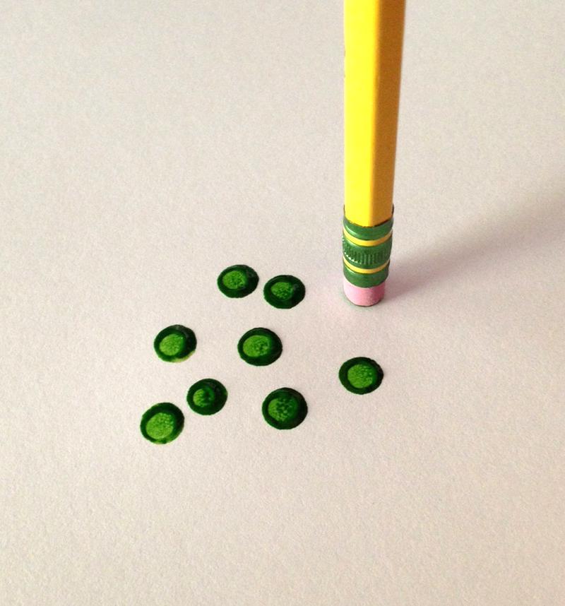 Practically Perfect Dots | VanillaArts.com | #copic #coloredpencil #howtocolor