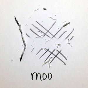 Moo PVC Eraser | VanillaArts.com