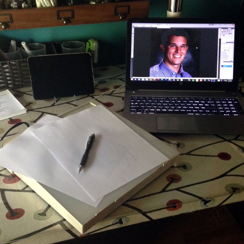 Preliminary Study Work for portrature   VanillaArts.com