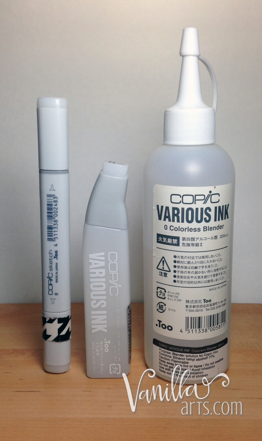 Copic Colorless Blender Options | VanillaArts.com