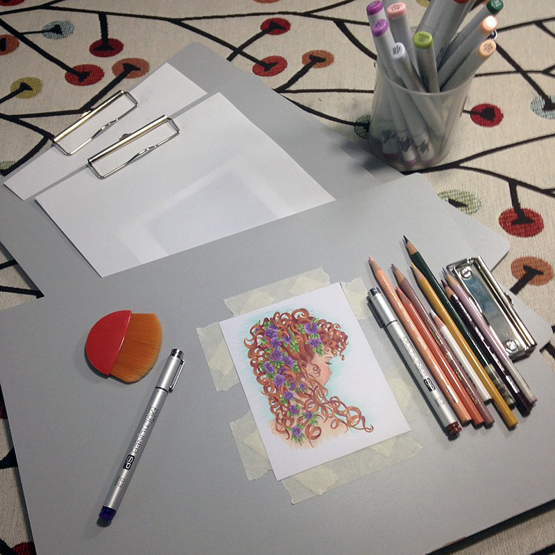 Large margins on your drawing board protect your art | VanillaArts.com
