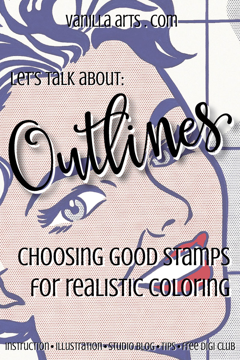 Choose the ideal type of stamp image for your Copic coloring | VanillaArts.com