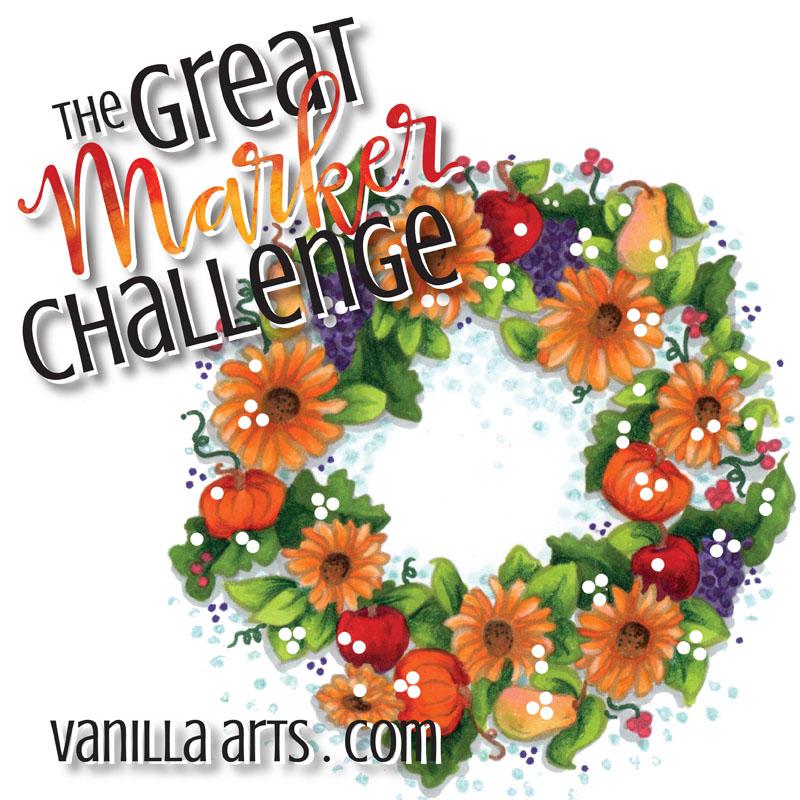 Great Marker Challenge- Digi stamp by VanillaArts.com