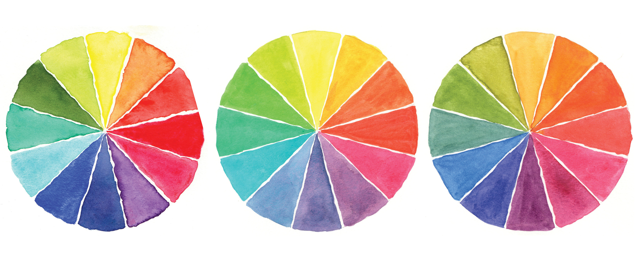 Color Wheel Comparisons (quick wheel, true CMY, BMG) | VanillaArts.com