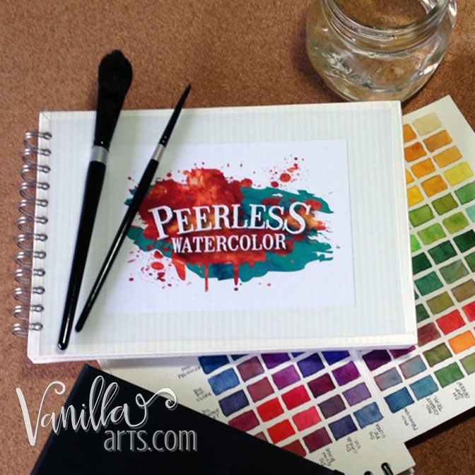 Make a Peerless Watercolor swatch palette | VanillaArts.com