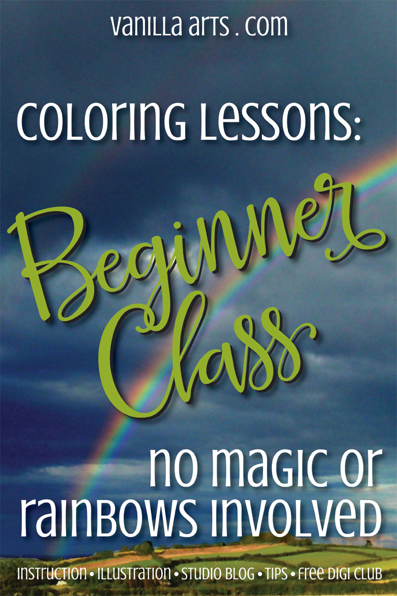 Why my Beginner Coloring classes don't look very beginnerish | VanillaArts.com