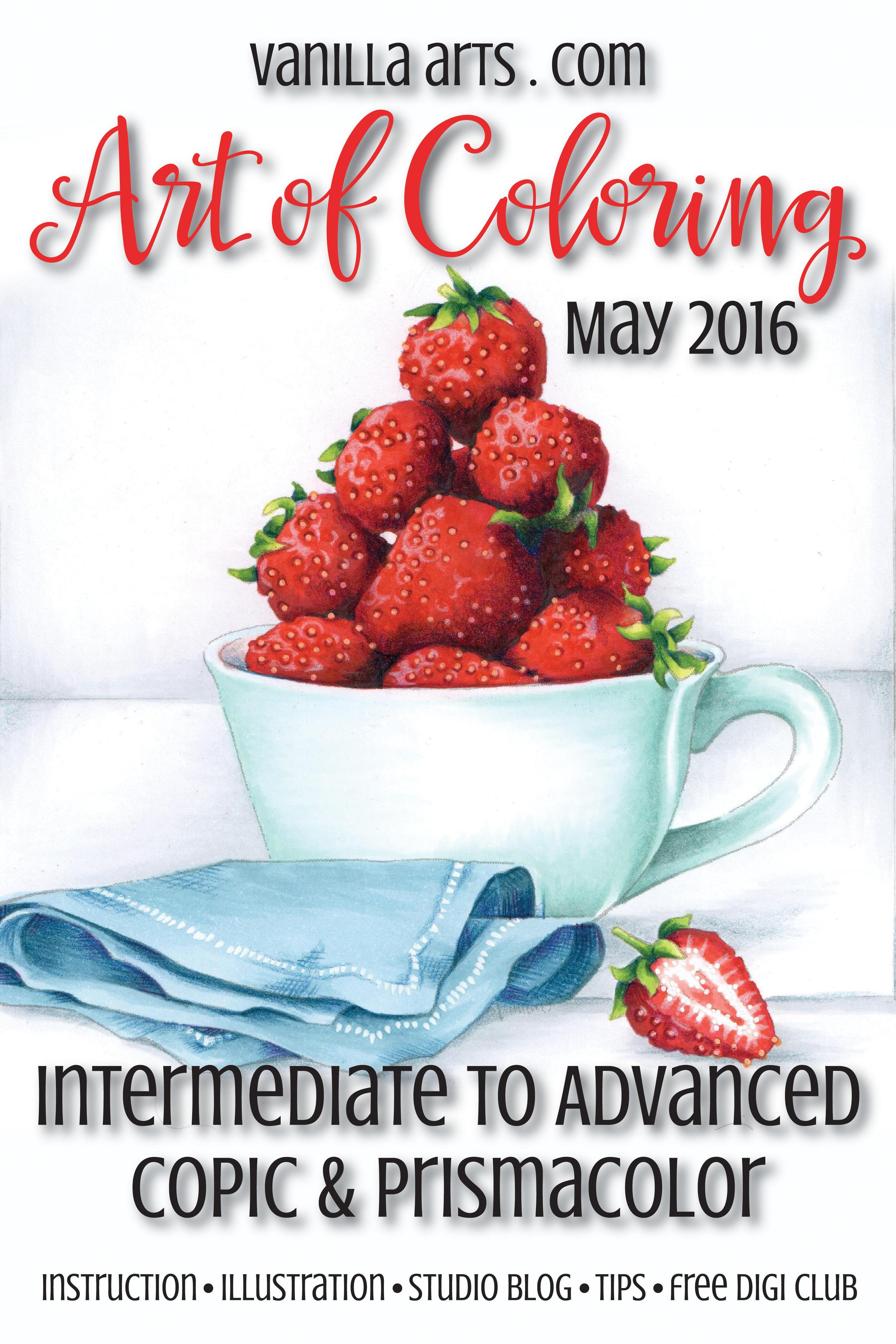 "Advanced Copic classes for May 2016 ""Strawberry Tea"" | VanillaArts.com"