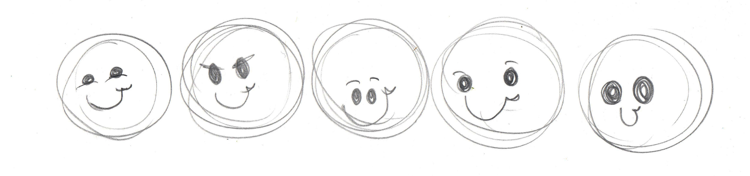 Doodle faces to learn how to change expressions in your stamps | VanillaArts.com