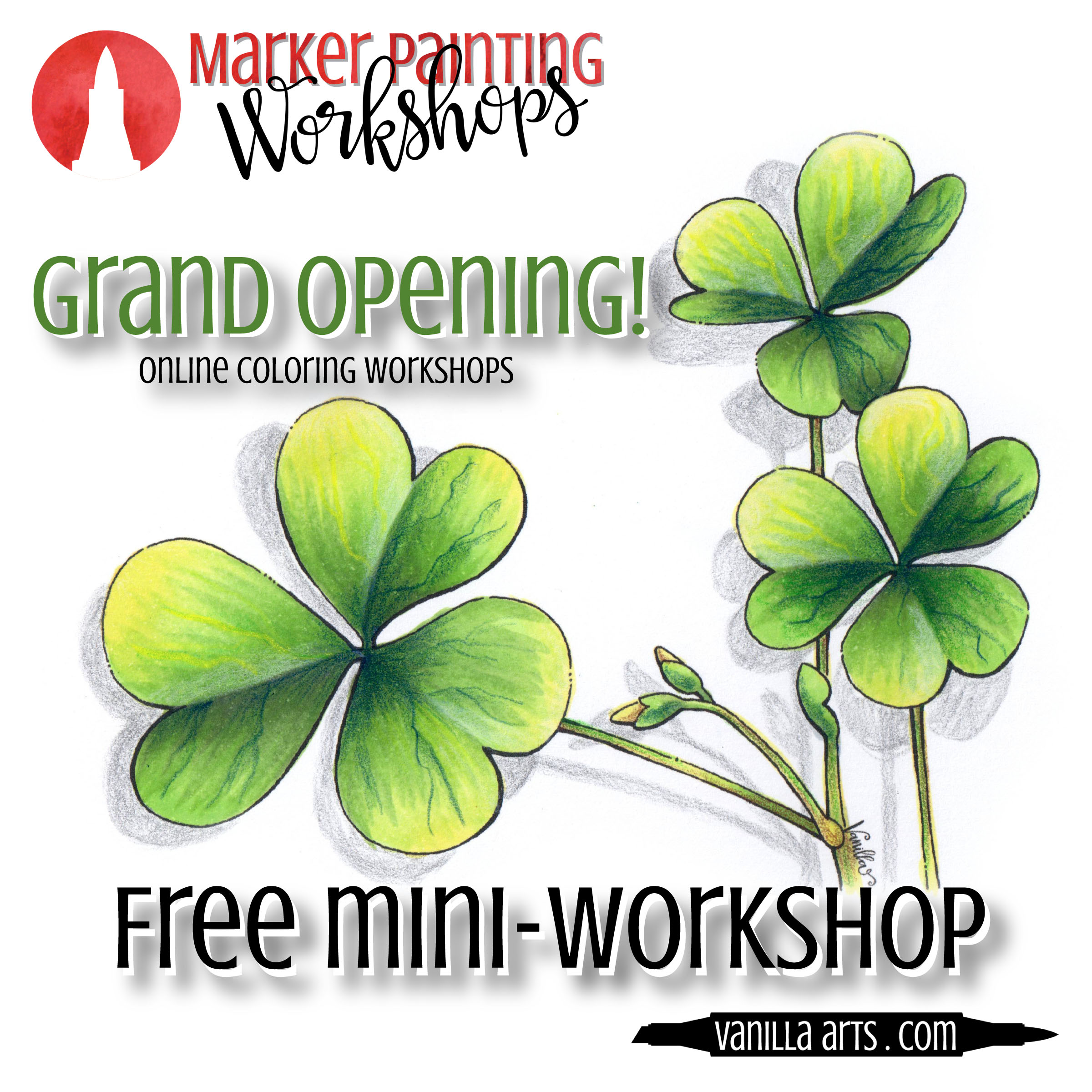 """More Than Luck"" a FREE mini-workshop. Beginner-challenge level coloring."
