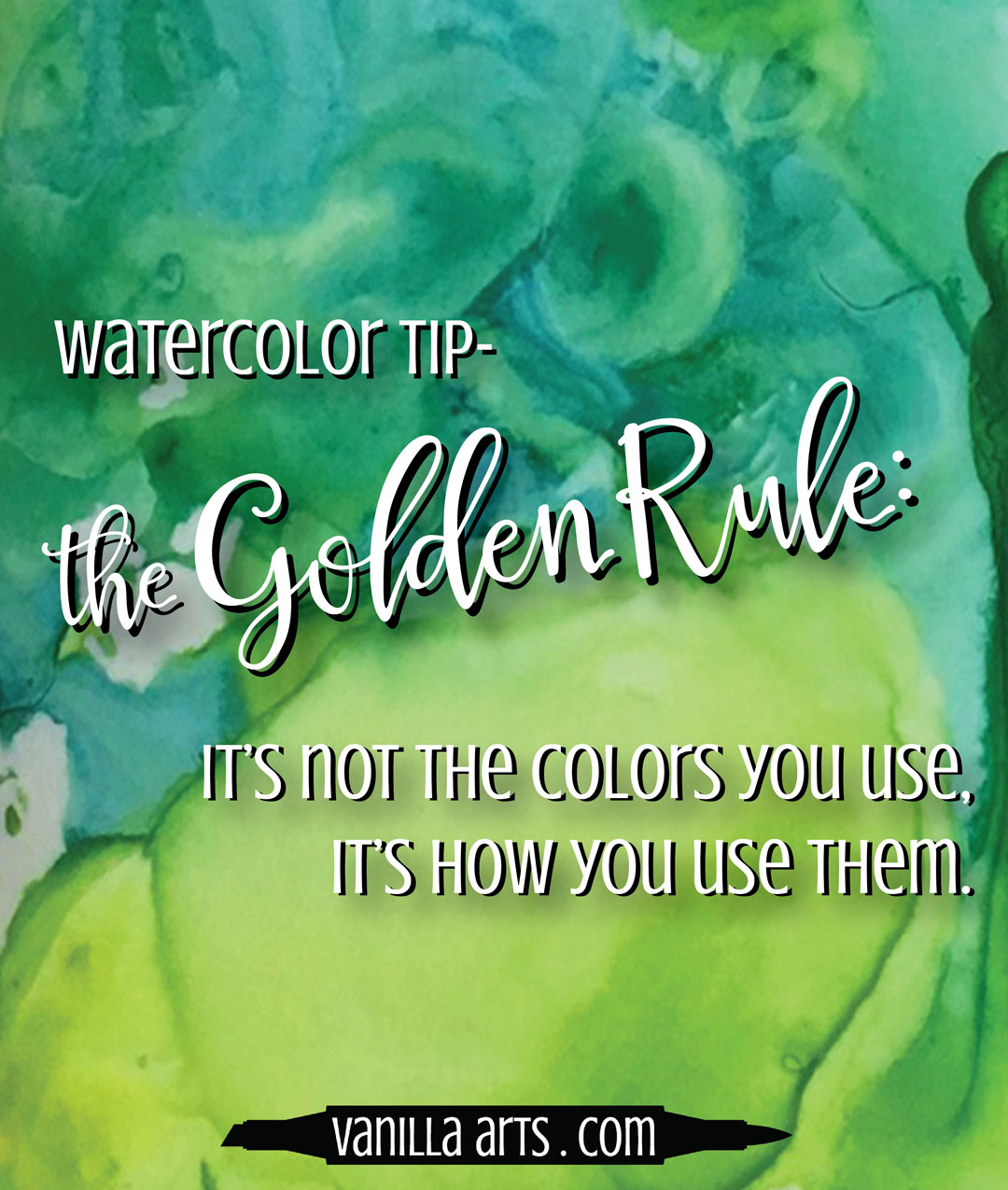 It's not the paints or colors you use, its the colors you mix from them | VanillaArts.com