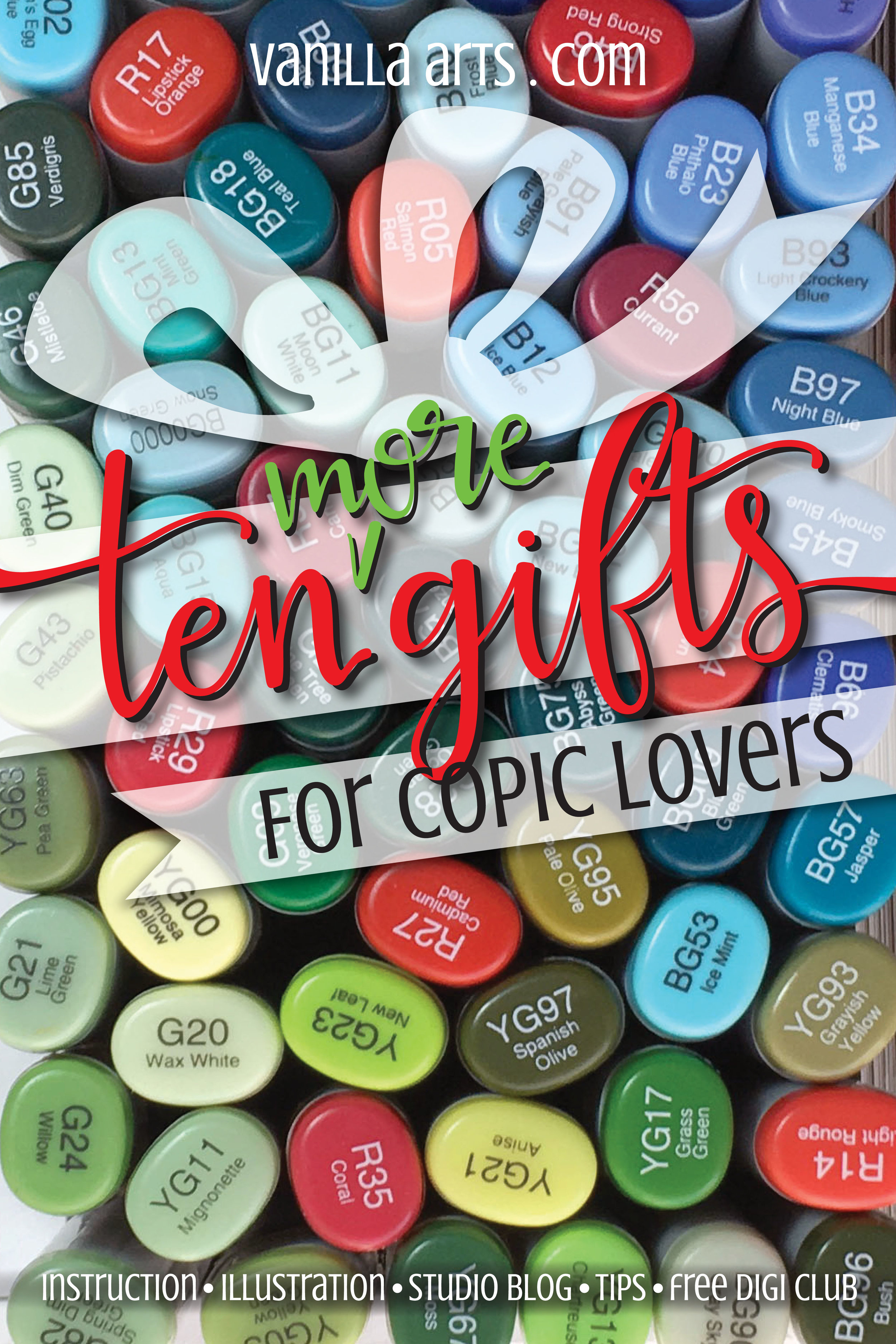 10 MORE Gift ideas for a Copic Marker lover- gifts they'll actually use! | VanillaArts.com