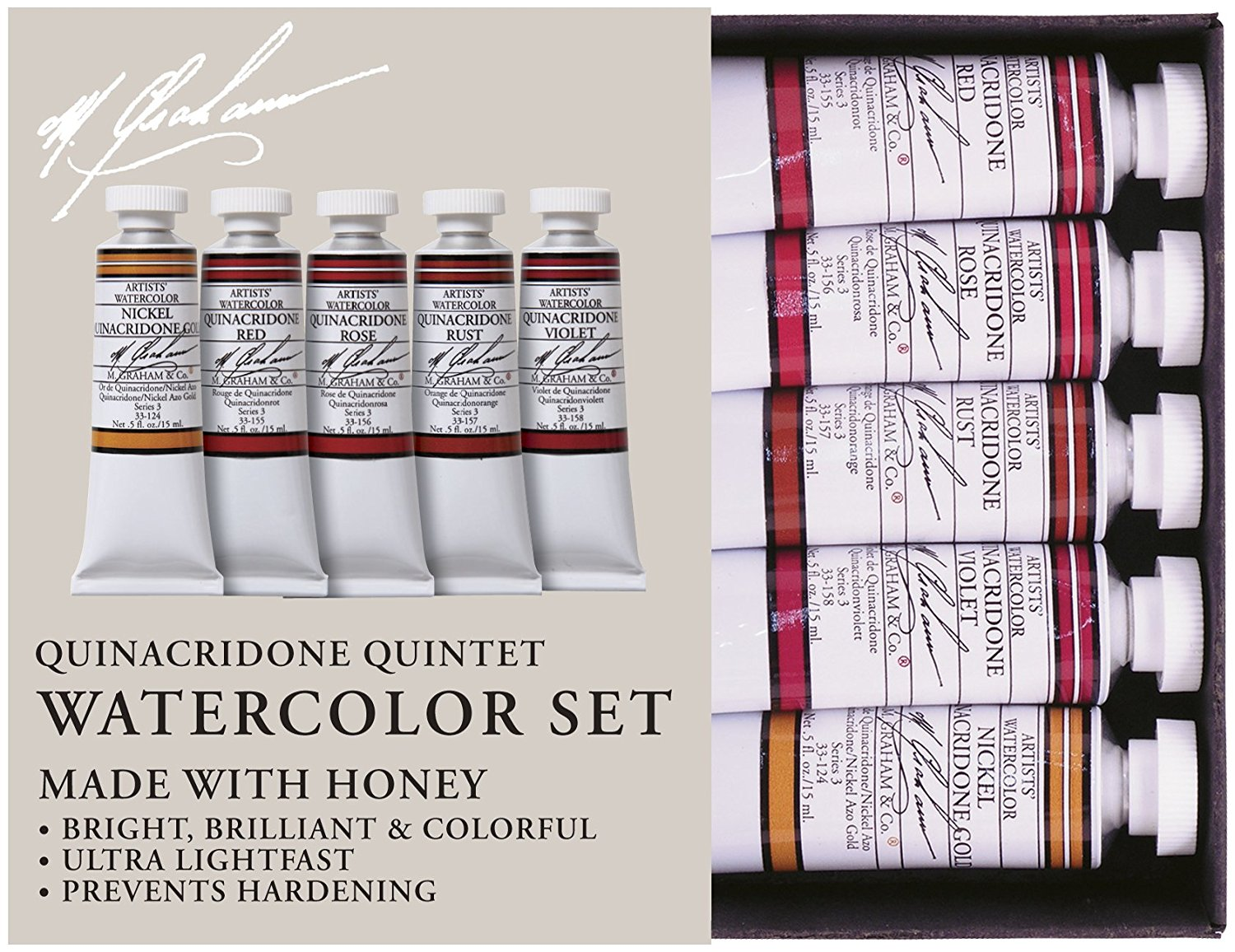 10 Gift Ideas for a Watercolor Lover- Quinacriode Quintet- a nice way to explore a single color family | VanillaArts.com