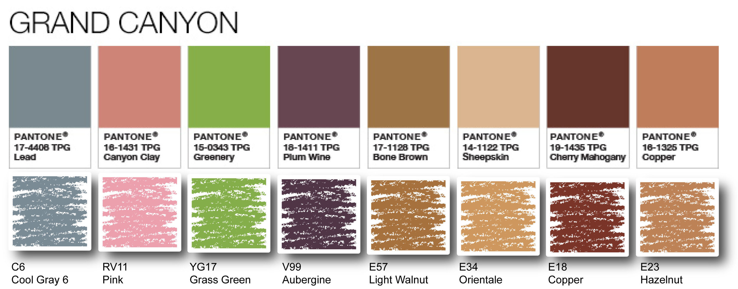 """Pantone Palette featuring """"Greenery"""" translated to Copic   VanillaArts.com"""