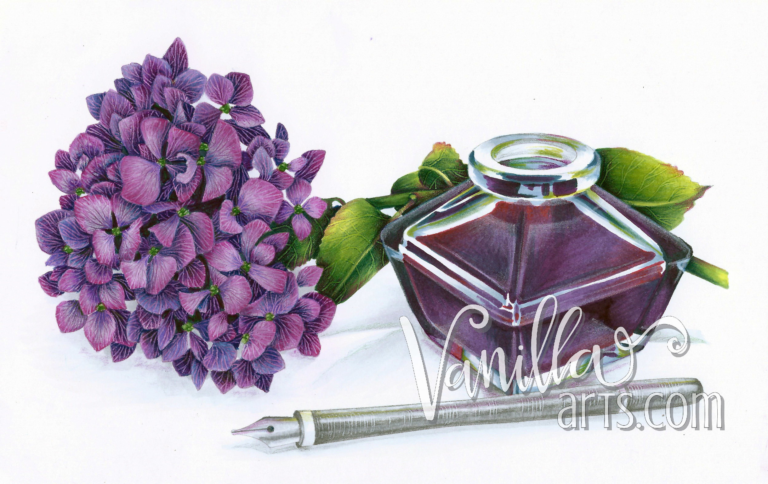 Learn to shift color temperatures. Art of Coloring, challenge level Copic & Colored Pencil classes.   VanillaArts.com