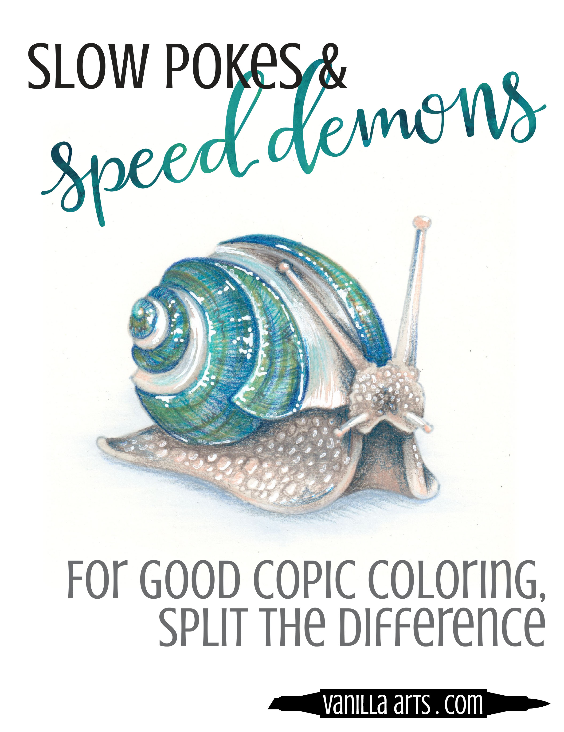 One Tiny Thing to improve your Copic coloring- watch your speed! Realistic coloring, realistic advice. Learn more at VanillaArts.com