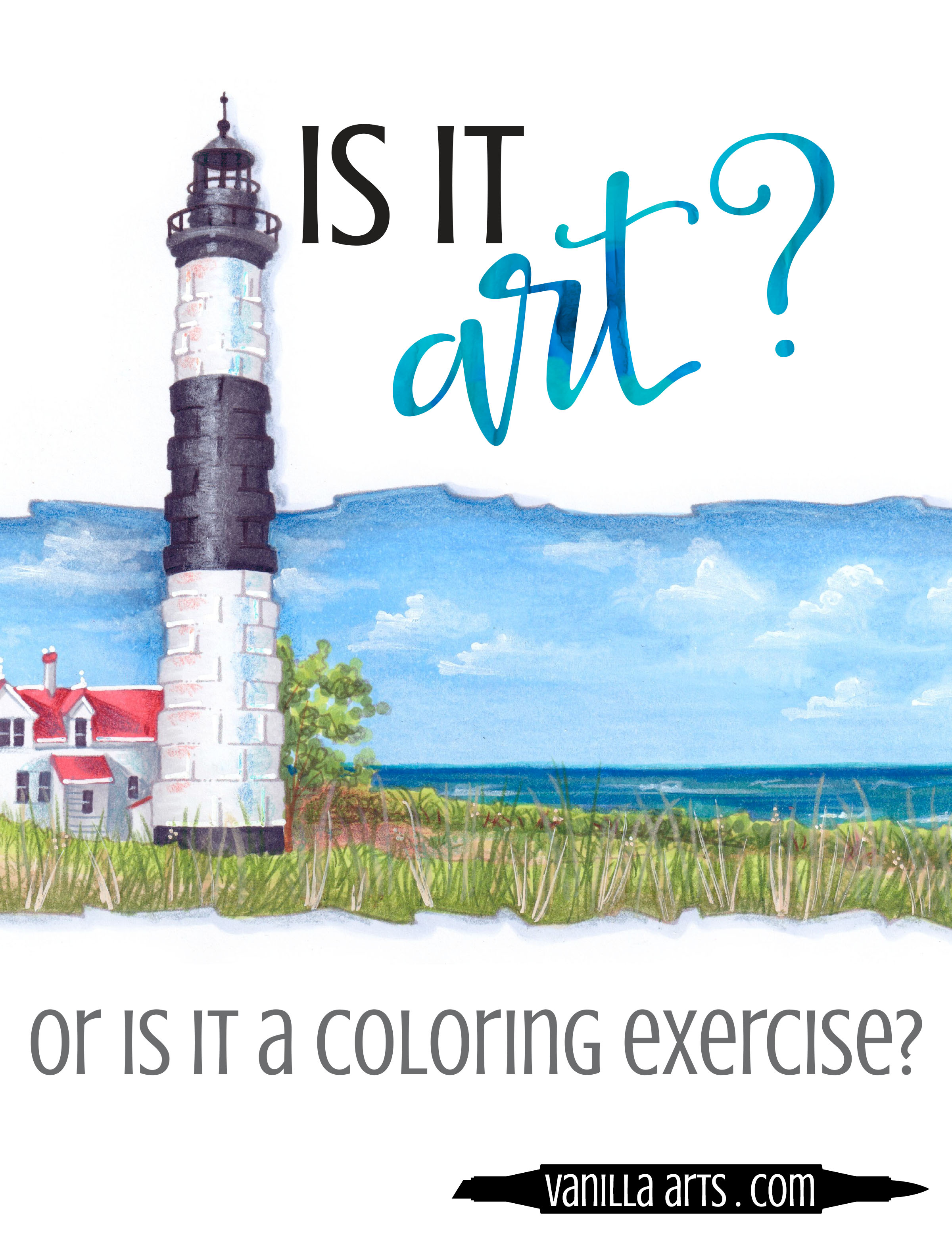 """You're such a talented artist!"" or are you just a good colorer? How to move from coloring to creating art with your Copic markers or colored pencils. 