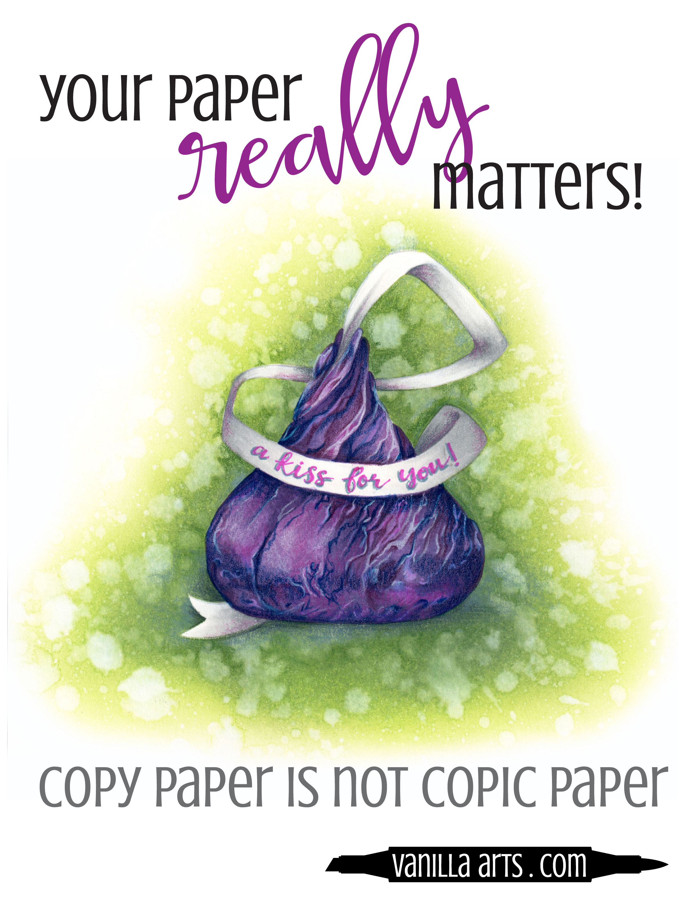 Simple steps you can take to immediately improve your Copic Marker blending- Copy paper is not Copic paper. Good blends are more than skill, you also need the right paper! | VanillaArts.com