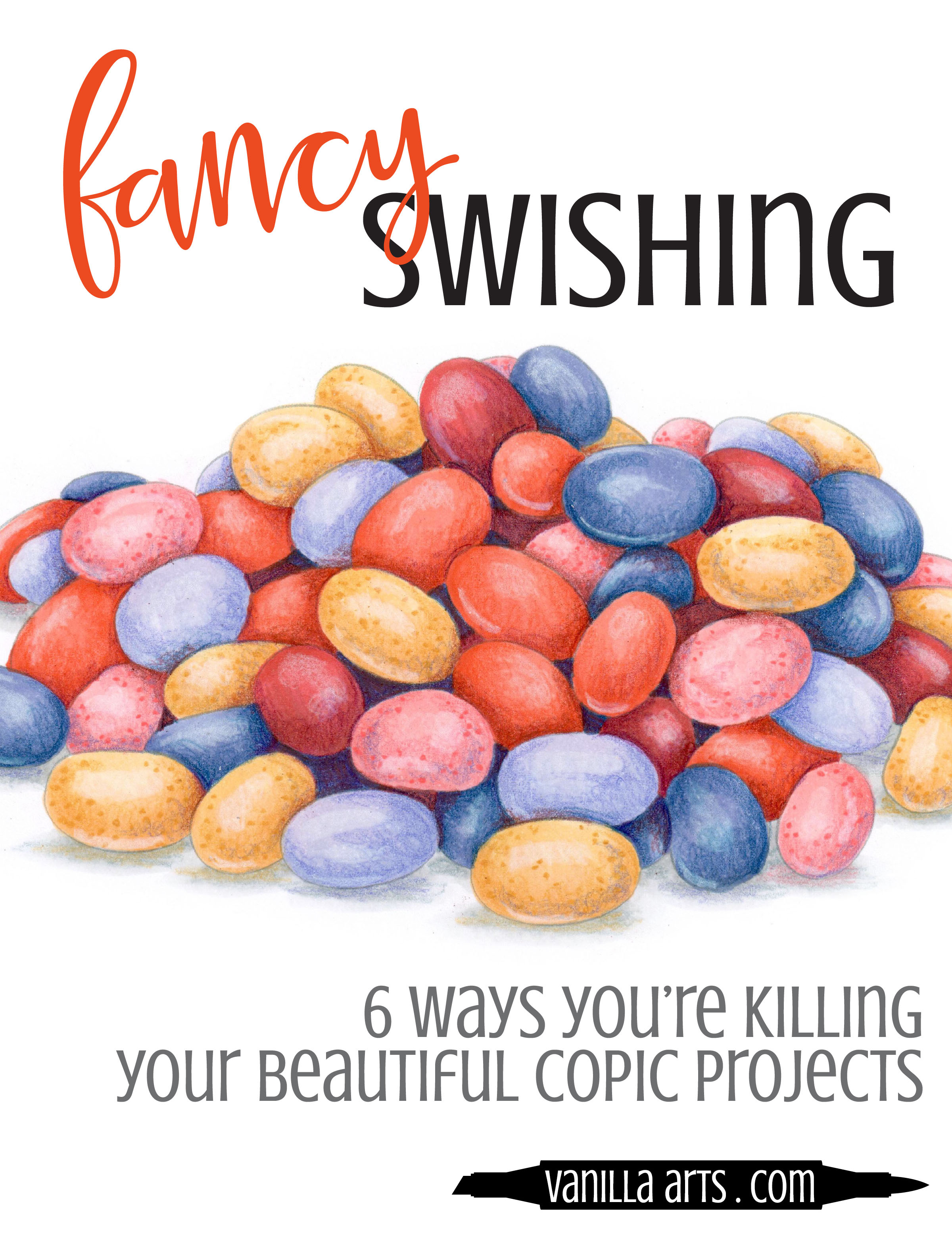 Are you killing your Copic Coloring with too much love and attention? 6 ways you are damaging your project and how to prevent overcoloring. | VanillaArts.com