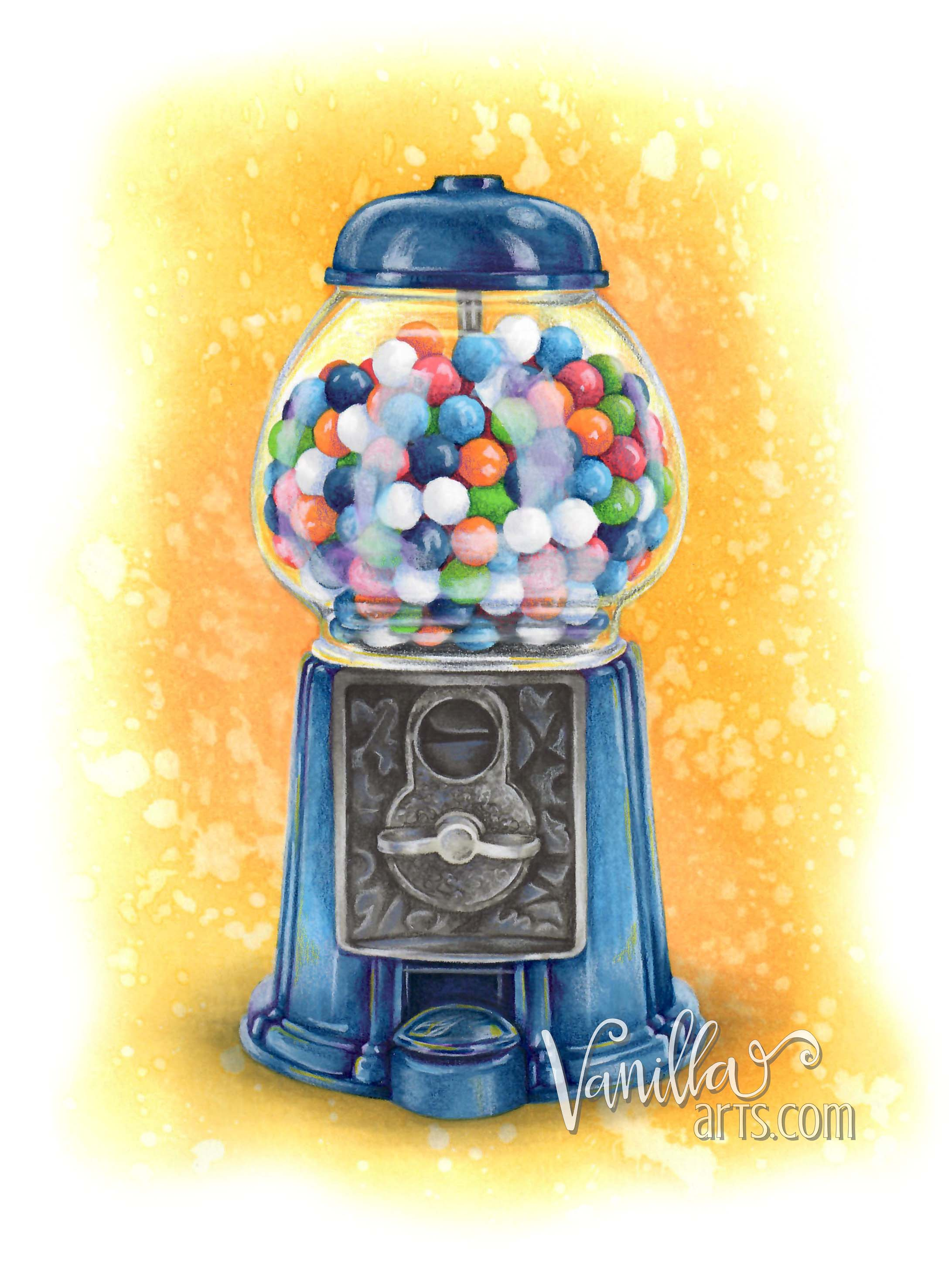 """Penny Candy"" a digital stamp for realistic coloring. Perfect for Copic Marker, colored pencil, even watercolors! Recipe guide included. 