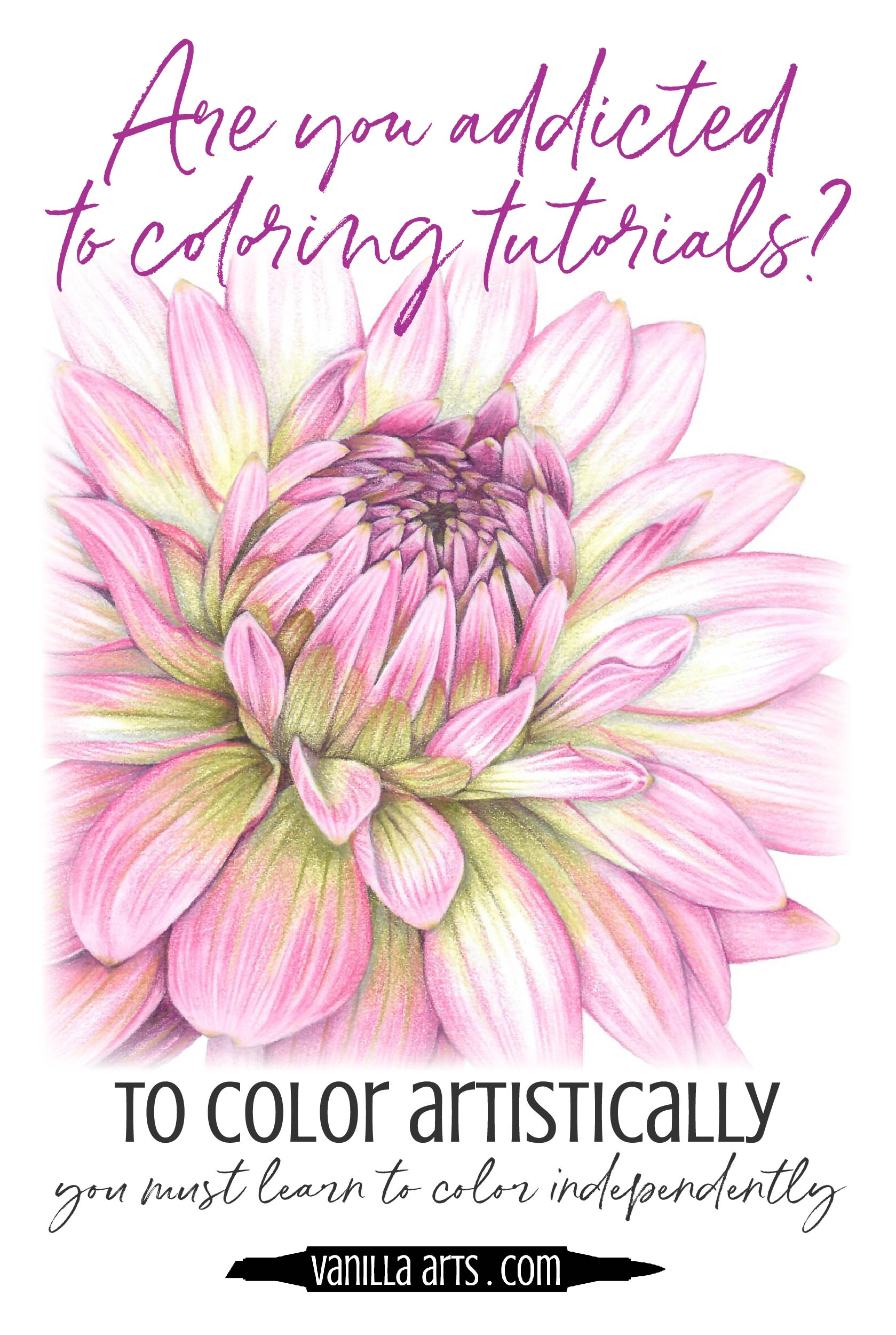 "Do you research ""how to color a ___"" before every Copic marker project? Until you learn to color independently without tutorials, you'll never get the artistry you want. 