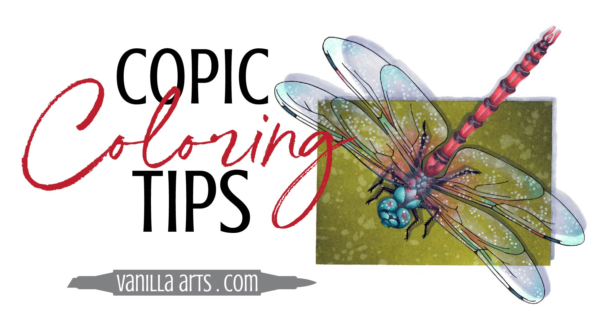 Copic Marker speed coloring and tips by Amy Shulke of Vanilla Arts Company. Advance your coloring and change the way you think about Copic Markers, colored pencils. You can color with realism! | VanillaArts.com | #copicmarker #coloredpencil #coloring #howtocolor #realisticcoloring