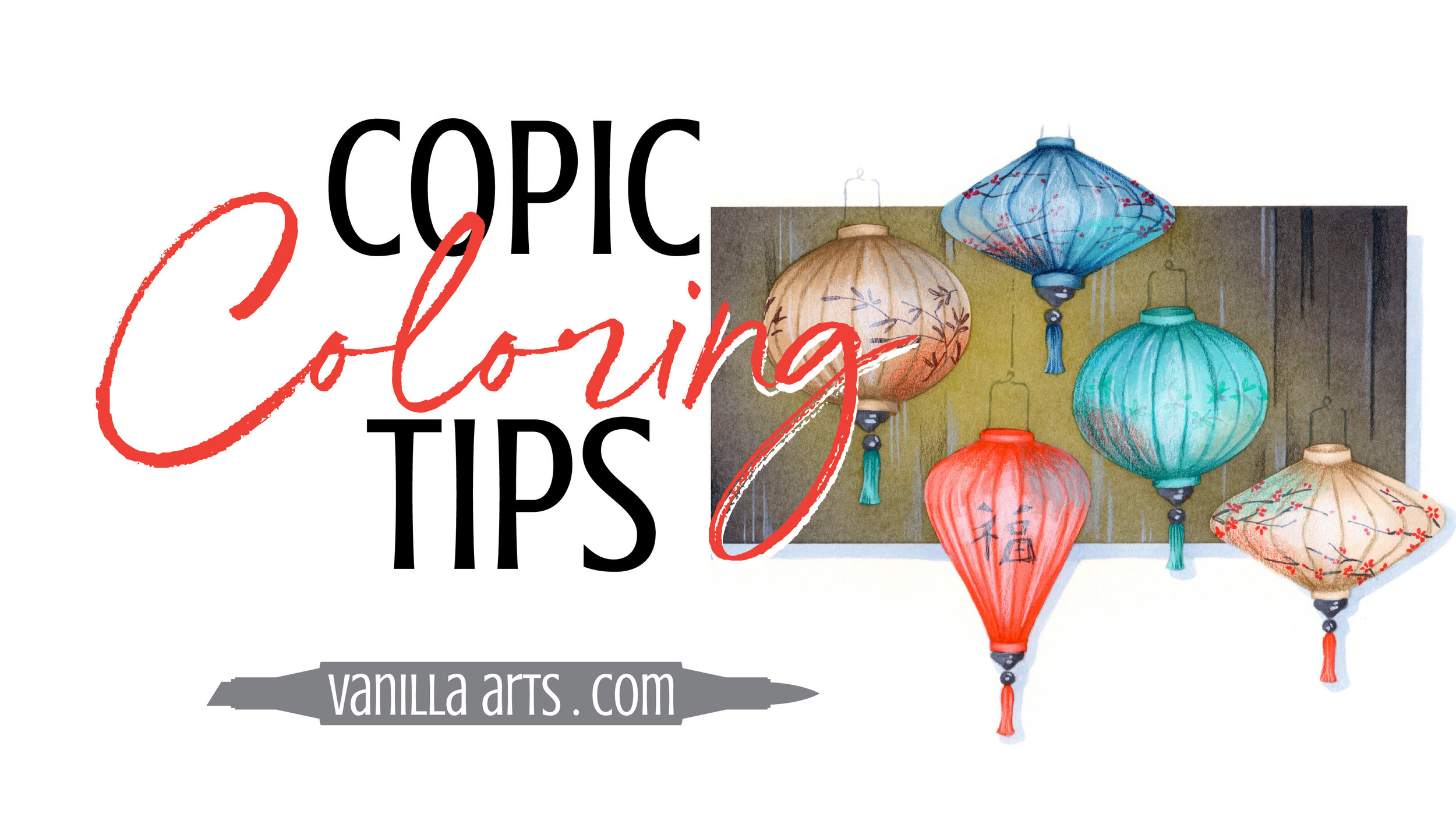Copic Marker tips by Amy Shulke of Vanilla Arts Company. Advance your coloring and change the way you think about Copic Markers, colored pencils. You can color with realism! | VanillaArts.com | #copicmarker #coloredpencil #coloring #howtocolor #realisticcoloring